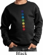 Kids Yoga Sweatshirt Glowing Chakras Sweat Shirt