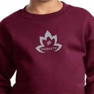 Kids Yoga Sweatshirt Grey Namaste Lotus Sweat Shirt