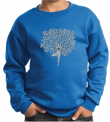 Kids Yoga Sweatshirt Grey Tree Pose Sweat Shirt