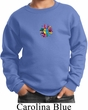 Kids Yoga Sweatshirt Hippie Sun Patch Middle Print Sweat Shirt