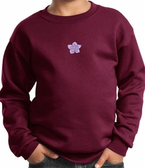 Kids Yoga Sweatshirt Layered Flower Patch Sweat Shirt