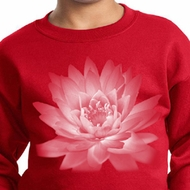 Kids Yoga Sweatshirt Lotus Flower Youth Sweat Shirt