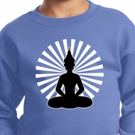 Kids Yoga Sweatshirt Meditating Buddha Youth Sweat Shirt
