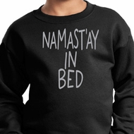 Kids Yoga Sweatshirt Namastay In Bed Sweat Shirt
