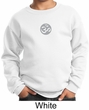 Kids Yoga Sweatshirt Om Symbol Small Print Youth Sweat Shirt