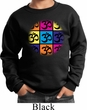 Kids Yoga Sweatshirt Pop Art Om Sweat Shirt
