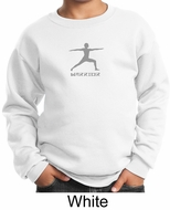 Kids Yoga Sweatshirt Warrior 2 Pose Meditation Youth Sweat Shirt