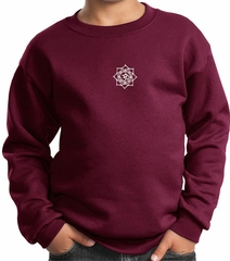 Kids Yoga Sweatshirt White Lotus OM Patch Sweat Shirt