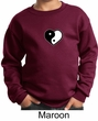 Kids Yoga Sweatshirt Yin Yang Heart Small Print Sweat Shirt