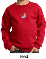 Kids Yoga Sweatshirt Yin Yang Meditation Youth Sweat Shirt