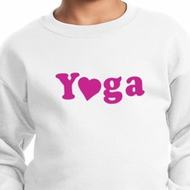 Kids Yoga Sweatshirt Yoga Heart Neon Sweat Shirt