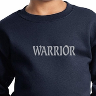 Kids Yoga Swestshirt Warrior Text Sweat Shirt