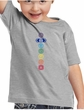 Kids Yoga T-Shirt 7 Colored Chakras Toddler Tee
