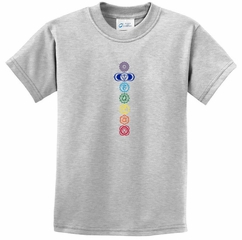 Kids Yoga T-shirt 7 Colored Chakras Youth Tee