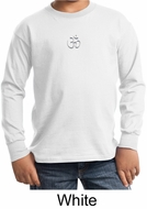 Kids Yoga T-shirt Aum Hindu Patch Meditation Youth Long Sleeve Shirt