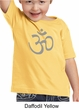 Kids Yoga T-shirt Aum Symbol Meditation Toddler Tee Shirt