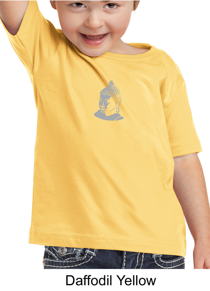 Kids Yoga T Shirt Buddha Buddhist Small Print Toddler Tee