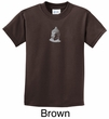 Kids Yoga T-shirt Buddha Buddhist Small Print Youth Tee Shirt