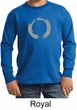 Kids Yoga T-shirt Enso Zen Meditation Youth Long Sleeve Shirt