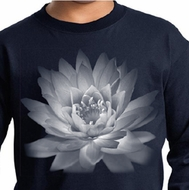 Kids Yoga T-Shirt Lotus Flower Youth Long Sleeve Shirt