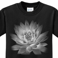 Kids Yoga T-shirt Lotus Flower Youth Tee