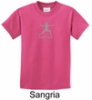 Kids Yoga T-shirt Warrior 2 Pose Meditation Youth Tee Shirt