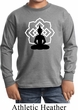 Kids Yoga Tee Buddha Lotus Pose Youth Long Sleeve