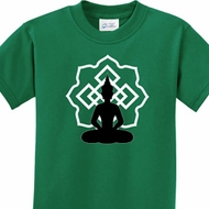 Kids Yoga Tee Buddha Lotus Pose Youth T-shirt