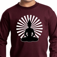 Kids Yoga Tee Meditating Buddha Youth Long Sleeve Shirt