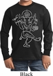 Kids Yoga Tee Sketch Ganesha White Print Youth Long Sleeve