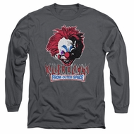 Killer Klowns From Outer Space Long Sleeve Shirt Rough Clown Charcoal Tee T-Shirt