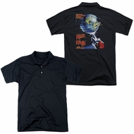 Killer Klowns From Outer Space Polo Invaders Black Back Print Golf Shirt