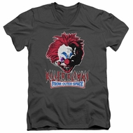 Killer Klowns From Outer Space Slim Fit V-Neck Shirt Rough Clown Charcoal T-Shirt