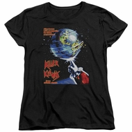 Killer Klowns From Outer Space Womens Shirt Invaders Black T-Shirt