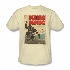 King Kong Shirt Old Worn Poster Adult Cream Tee T-Shirt