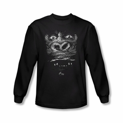 King Kong Shirt Up Close Long Sleeve Black Tee T-Shirt