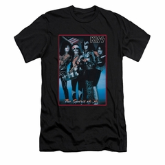 Kiss Shirt Slim Fit Spirit Of 76 Black T-Shirt