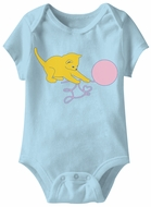 Kitten Funny Baby Romper Light Blue Infant Babies Creeper