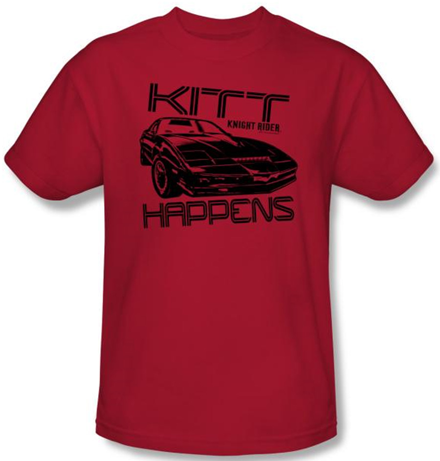 Knight Rider Kids T Shirt Kitt Happens Youth Red Tee Shirt