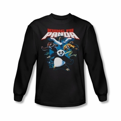 Kung Fu Panda Shirt Kung Fu Group Long Sleeve Black Tee T-Shirt