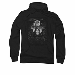 Labyrinth Hoodie Sweatshirt Maze Black Adult Hoody Sweat Shirt