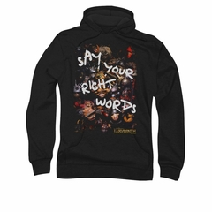 Labyrinth Hoodie Sweatshirt Right Words Black Adult Hoody Sweat Shirt