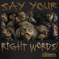 Labyrinth Say Your Right Words Shirts