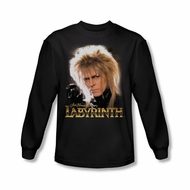 Labyrinth Shirt Jareth Long Sleeve Black Tee T-Shirt