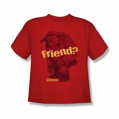 Labyrinth Shirt Kids Ludo Friend Red Youth Tee T-Shirt