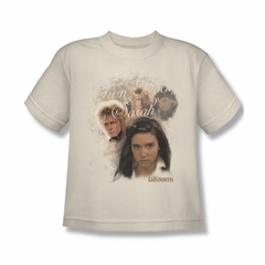 Labyrinth Shirt Kids Turn Back Sarah Cream Youth Tee T-Shirt