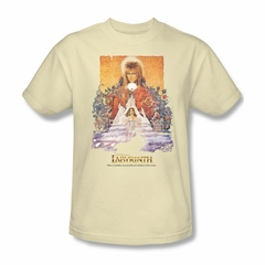 Labyrinth Shirt Movie Poster Adult Cream Tee T-Shirt