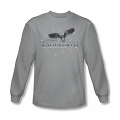 Labyrinth Shirt Owl Logo Long Sleeve Silver Tee T-Shirt