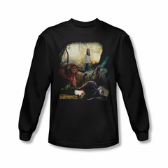 Labyrinth Shirt Sarah & Ludo Long Sleeve Black Tee T-Shirt