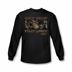 Labyrinth Shirt Say Your Right Words Long Sleeve Black Tee T-Shirt